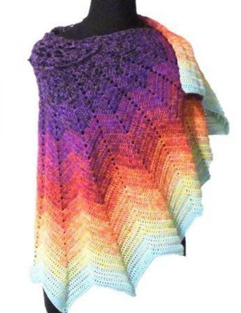 "Crochet pattern ""Lotus"" shawl at Makerist"