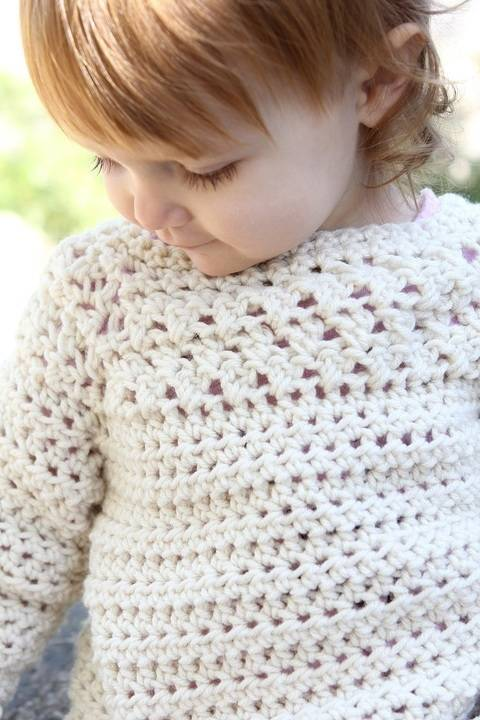 Kate Sweater - crochet baby sweater at Makerist