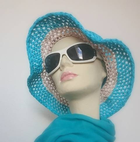 Häkelanleitung für einen Sommer-Sonnen-Hut in verschiedenen Größen bei Makerist