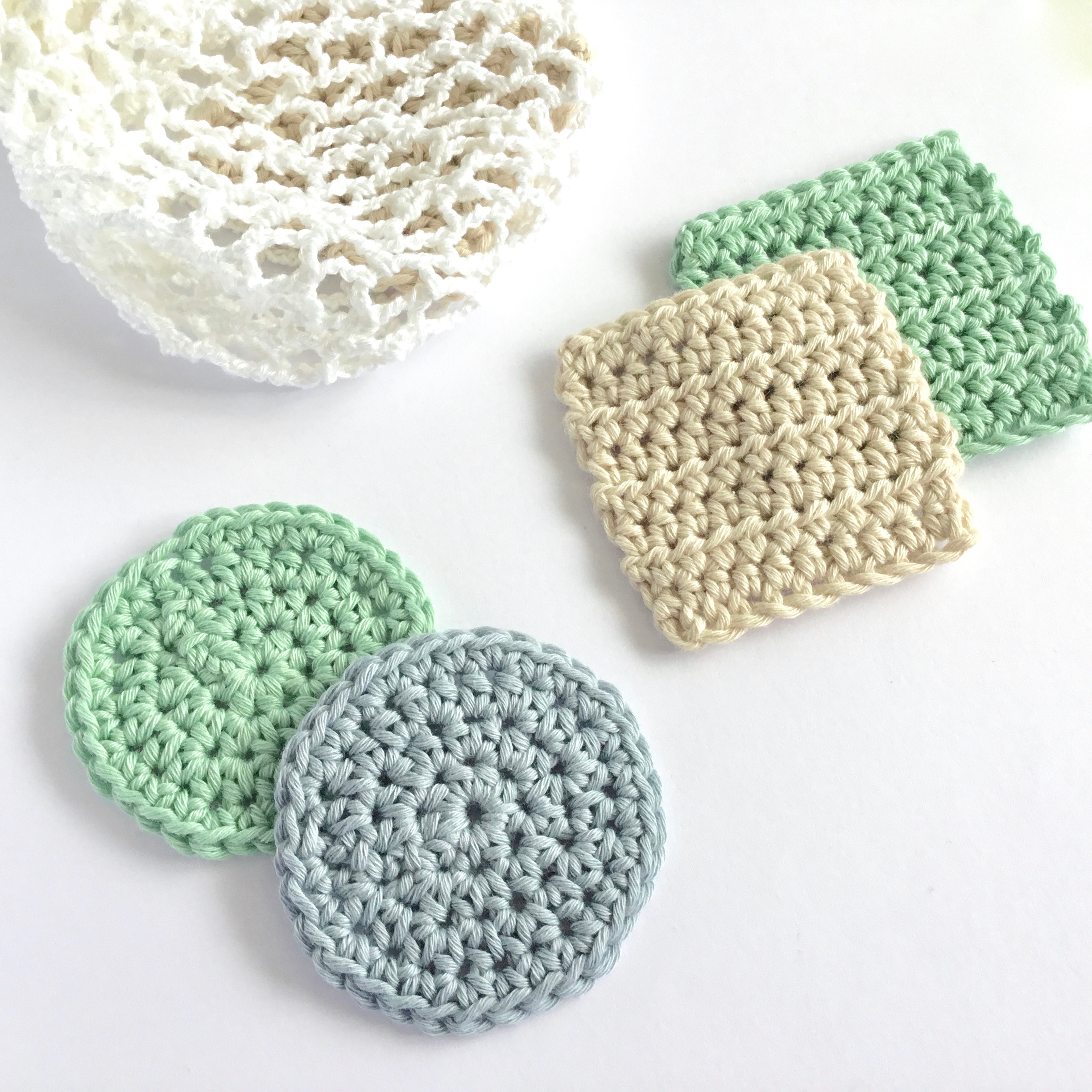 Face Scrubbies and Mesh Bag Crochet Patterns