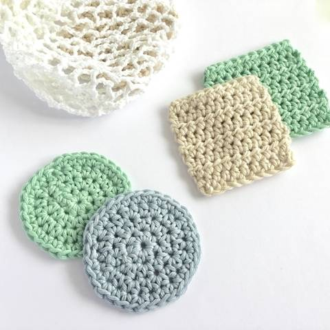Face Scrubbies and Mesh Bag Crochet Patterns at Makerist