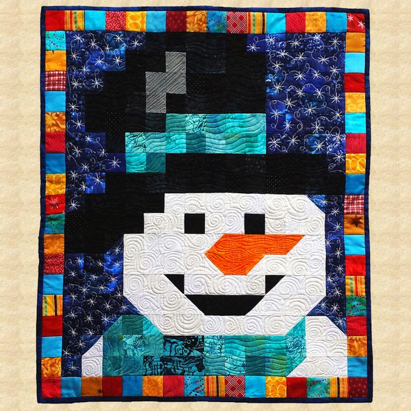 January Snowman Quilted Wall Hanging Pattern
