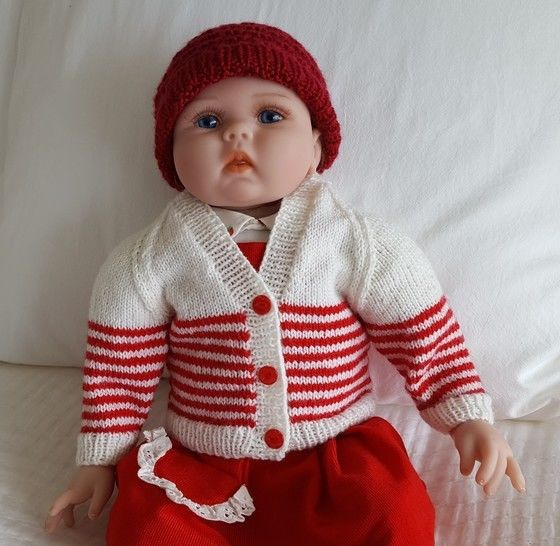Babies 4ply raglan cardigan with round or V neck - Jasper at Makerist - Image 1