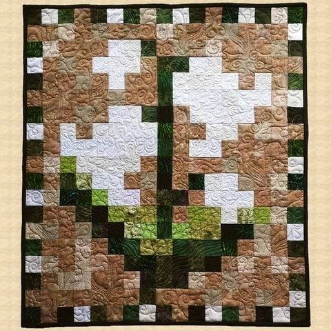 May Lily of the Valley Quilted Wall Hanging Pattern at Makerist