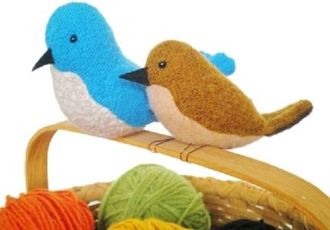 Upcycled Sweater Birds - PDF Sewing Pattern at Makerist