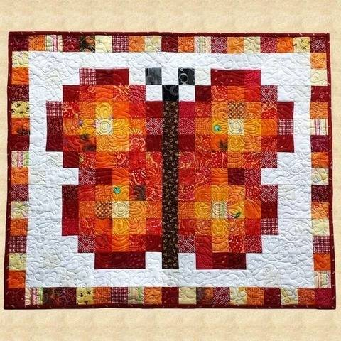 June Butterfly Quilted Wall Hanging Pattern