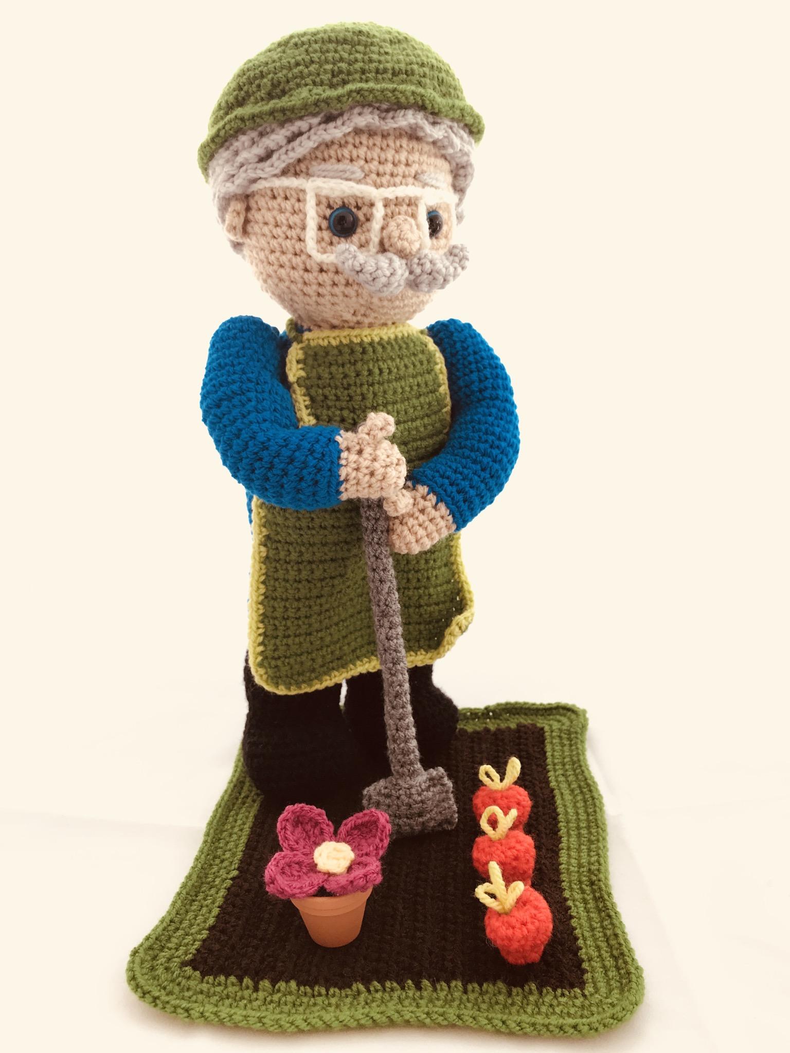 Tuto papy jardine crochet