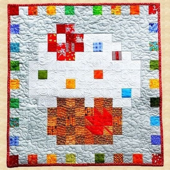 July Cupcake Quilted Wall Hanging Pattern at Makerist - Image 1