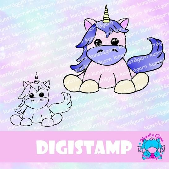 DigiStamp Einhorn Leyla bei Makerist - Bild 1