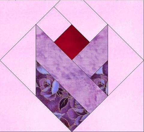 Tulip Love 10 Inch Paper Piece Foundation Quilting Block Pattern at Makerist