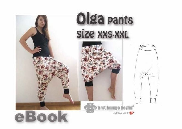 """US-Olga bloomers pants patterns size xxs-xxl sewing instructions """"quick & easy""""  firstloungeberlin at Makerist - Image 1"""