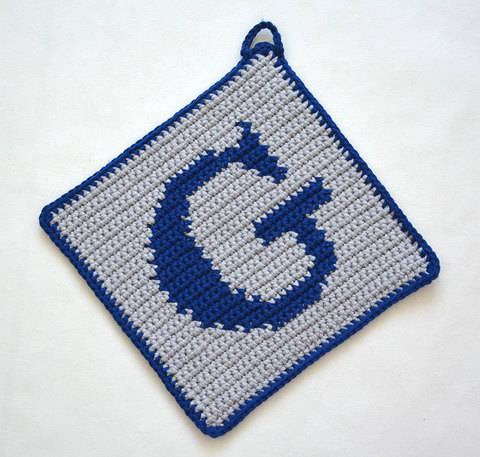 "Letter ""G"" Potholder Crochet Pattern - for beginners"