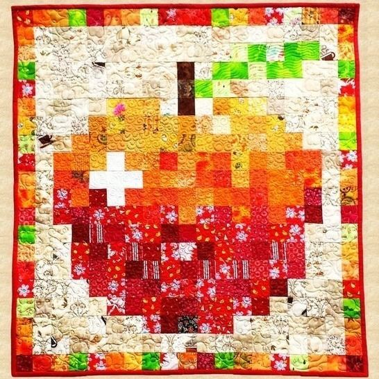 September Apple Quilted Wall Hanging Pattern at Makerist - Image 1