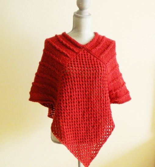 Autumn Poncho- Knitting Pattern at Makerist - Image 1