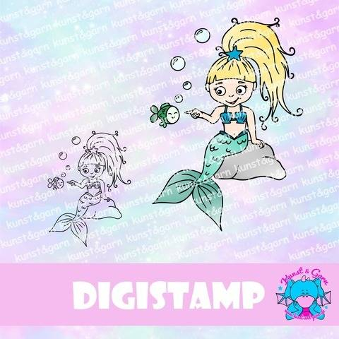 DigiStamp Meerjungfrau