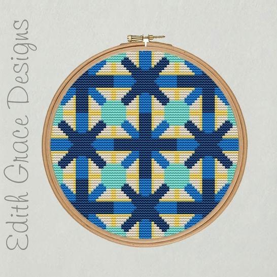 Portuguese Geometric Art Embroidery Pattern at Makerist - Image 1