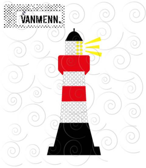 Plotterdatei: Leuchtturm - für Folien und HotFix Strasssteinen