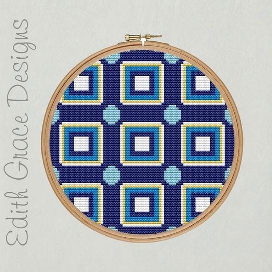 Geometric Portuguese Embroidery Pattern at Makerist - Image 1
