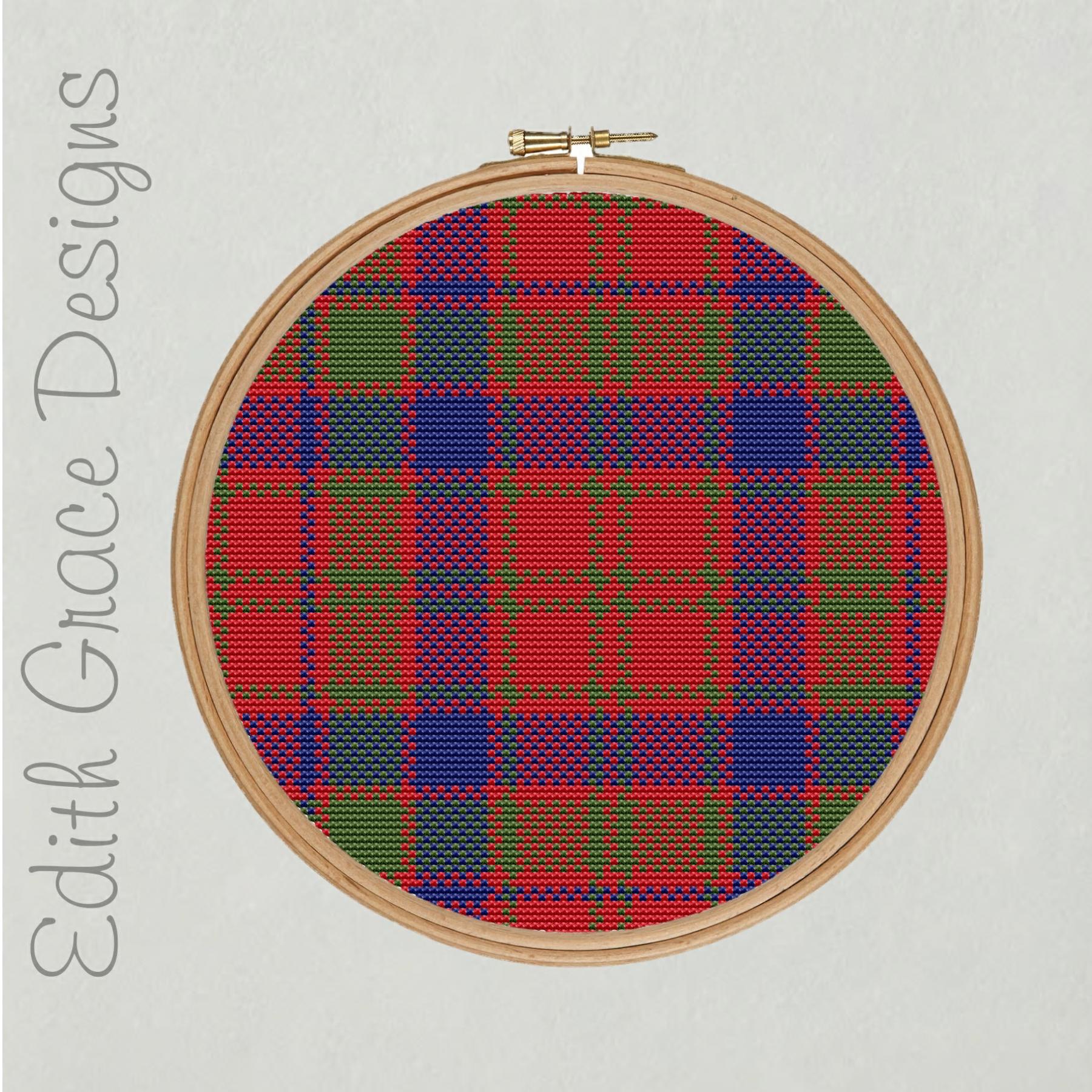 Robertson Tartan Circle Embroidery Pattern