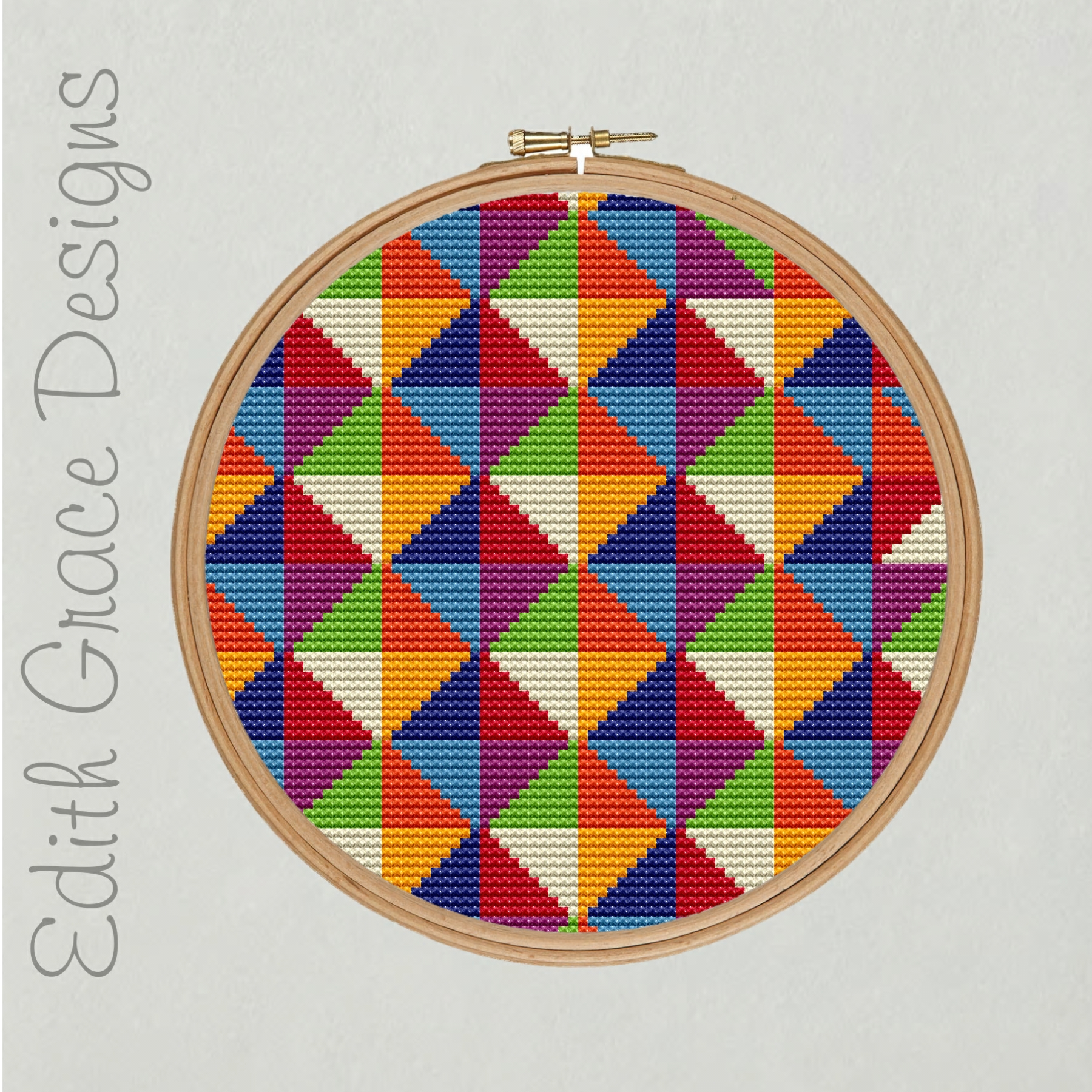 Geometric Embroidery Pattern