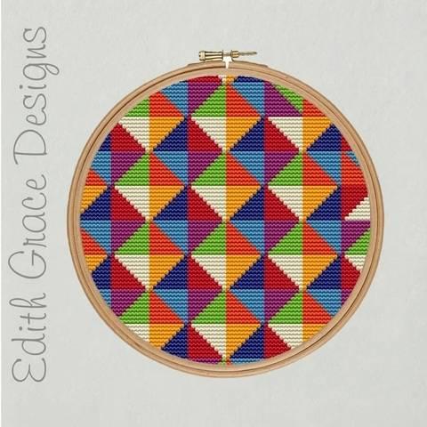 Geometric Embroidery Pattern at Makerist