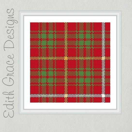 Bruce Tartan Square Embroidery Pattern at Makerist - Image 1