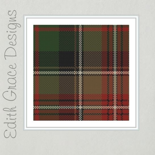 Johnson Tartan Square Embroidery Pattern at Makerist - Image 1