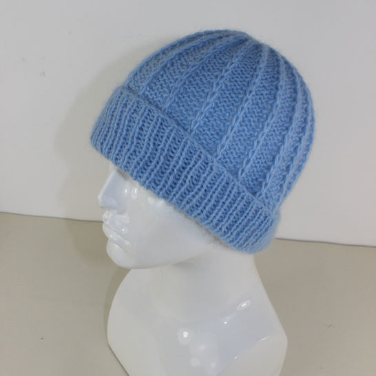 Fluffy Fishermans Rib Beanie Hat at Makerist - Image 1