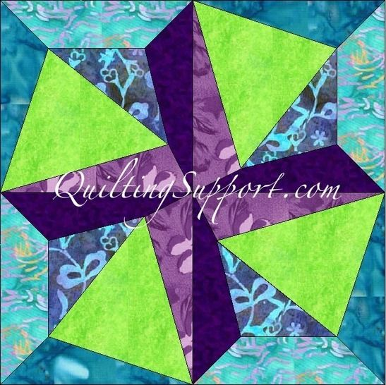 Crazy Spin 15 Inch Template Quilting Block Pattern at Makerist - Image 1