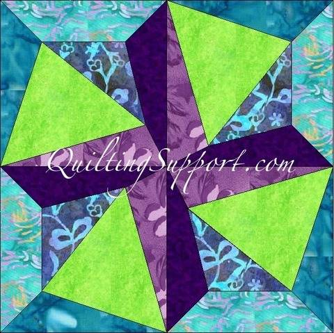 Crazy Spin 15 Inch Template Quilting Block Pattern at Makerist