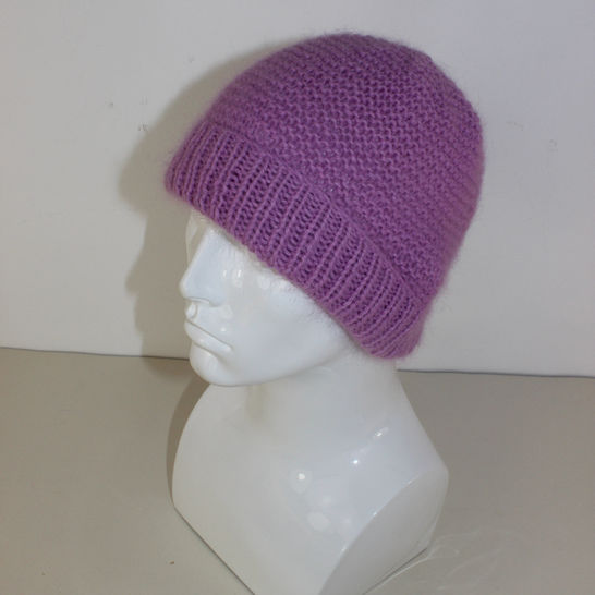 Fluffy Garter Stitch Beanie Hat at Makerist - Image 1