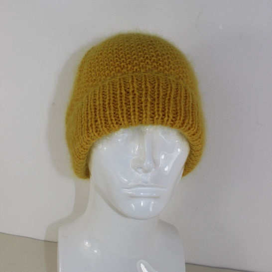 Fluffy Moss Stitch Beanie Hat at Makerist - Image 1