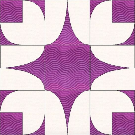 Bleeding Heart 15 Inch Template Quilting Block Pattern at Makerist - Image 1