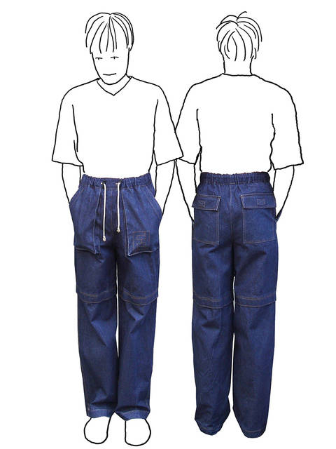 Zipp-Off Hose für Jungs *Schnittmuster und Nähanleitung