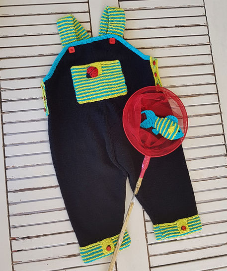 Lets Play Dungaree with Fish - 6 to 24 months at Makerist - Image 1