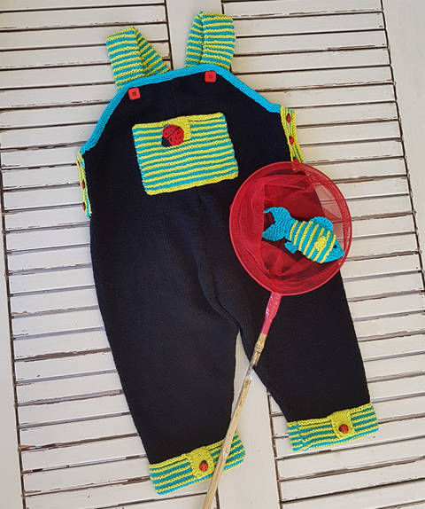 Lets Play Dungaree with Fish - 6 to 24 months at Makerist