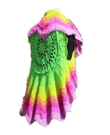"Crochet pattern Circular Vest ""Lotus""  at Makerist - Image 1"