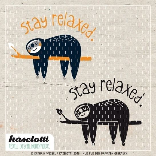 cutting file stay relaxed sloth at Makerist - Image 1