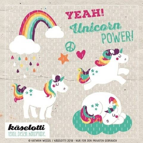 cutting file set unicorns
