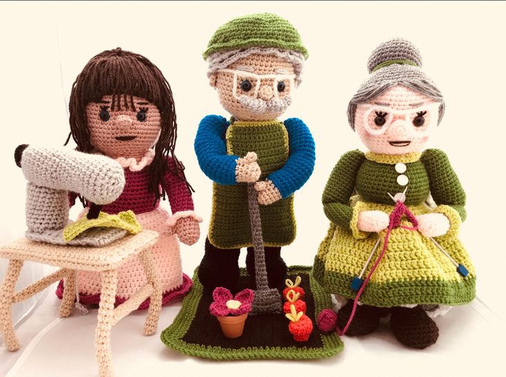 3 tutos en 1pdf crochet . Mamie tricote. papy jardine. Maman couturière chez Makerist - Image 1