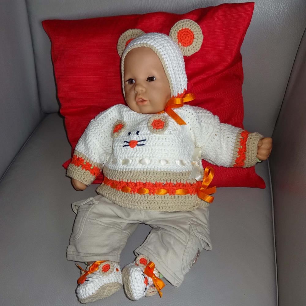 Set Maus, für Baby und für Puppen, Häkelanleitung von DaDaDe