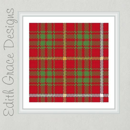 Bruce Tartan Needlepoint Pattern at Makerist - Image 1