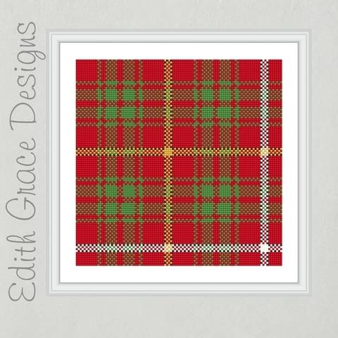 Bruce Tartan Needlepoint Pattern at Makerist