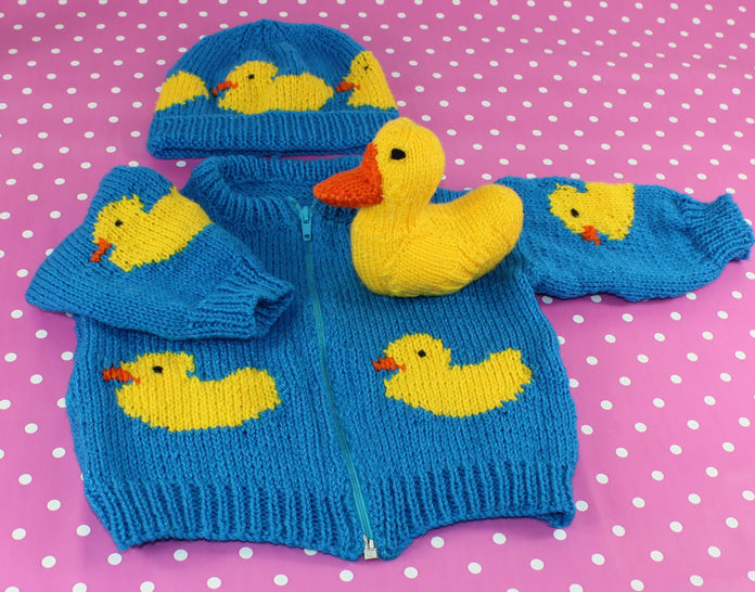 Baby Rubber Duck Bomber Jacket, Beanie Hat & Toy at Makerist - Image 1