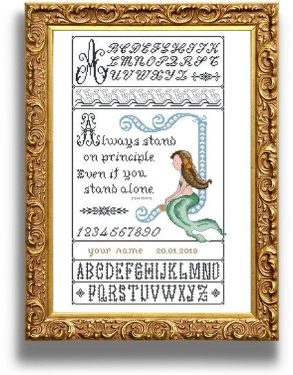 Mermaid sampler - Cross stitch pattern at Makerist - Image 1