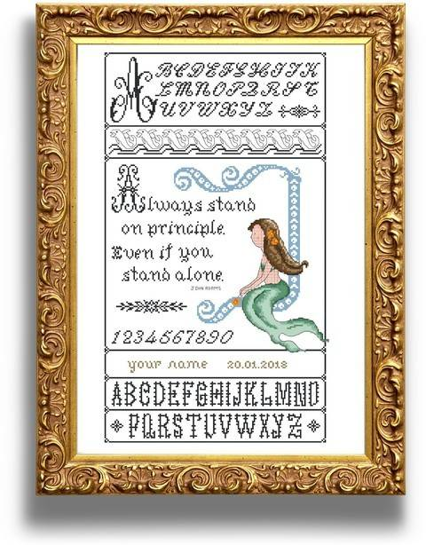 Mermaid sampler - Cross stitch pattern