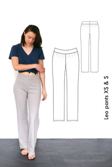 Relaxed jersey pants Leo, yoga pants, pyjama pants - XS-S / US size 4-6 / UK 6-8 - sewing pattern A4 + US letter at Makerist - Image 1