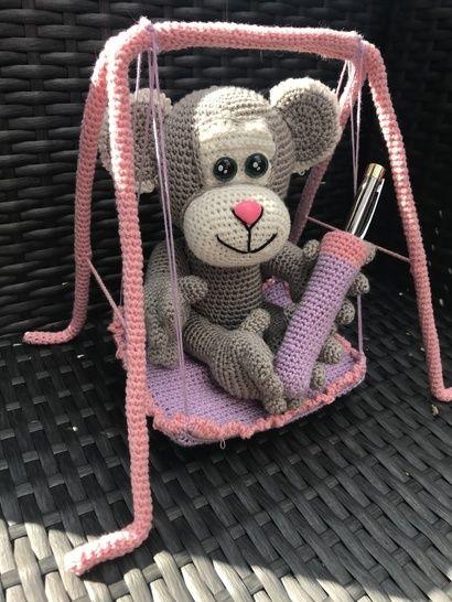 Tuto PDF singe balançoire crochet  chez Makerist - Image 1