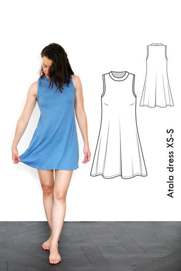 Atala sleeveless sporty dress - XS-S / US size 4-6 / UK 6-8 - sewing pattern A4 + US letter at Makerist - Image 1