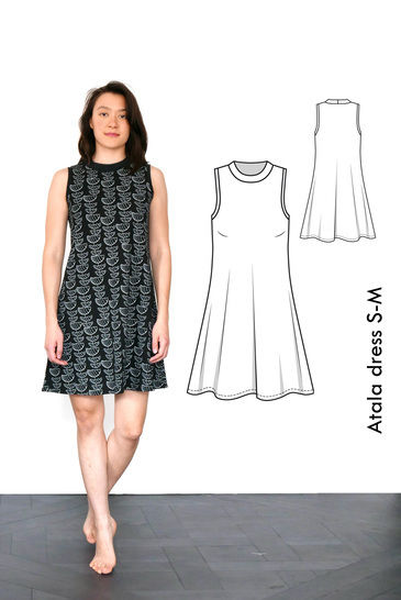 Atala sleeveless sporty dress - S-M / US size 6-8 / UK 8-10 - sewing pattern A4 + US letter at Makerist - Image 1